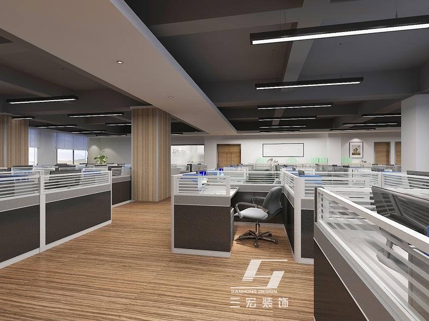 广州汇卡商务公司办公室装修案例 广州办公室装修