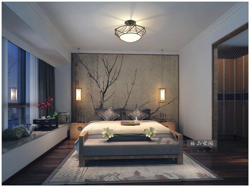 本案将明清家具与现代简约界面融合,形成全新的现代中式风格.图片
