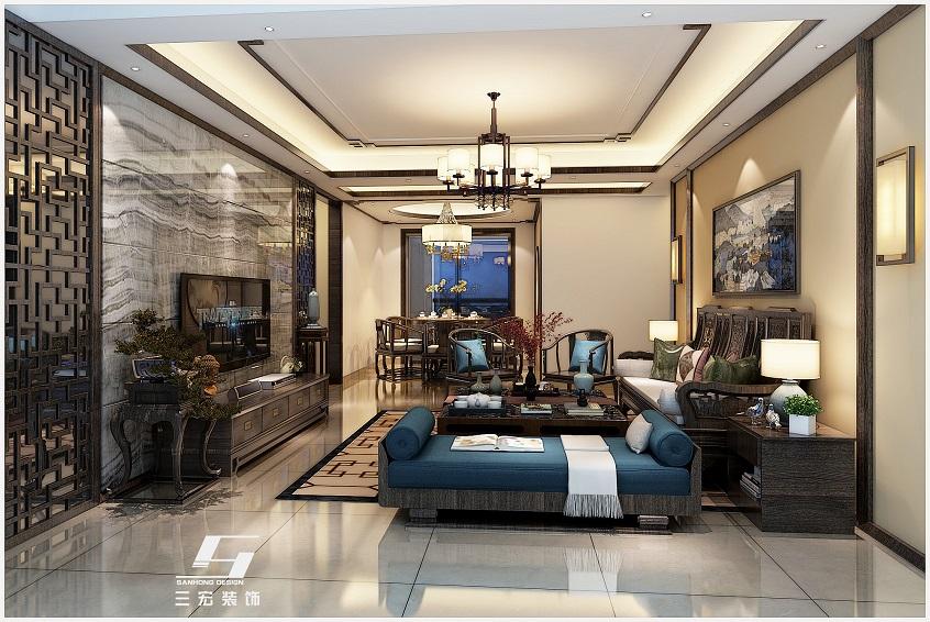 广州装修公司设计案例中式风格