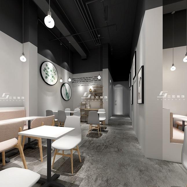 黄埔奶茶店设计装修|店铺装修|三宏装饰