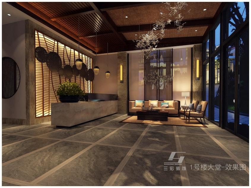 御铭泉1号楼酒店装修设计案例