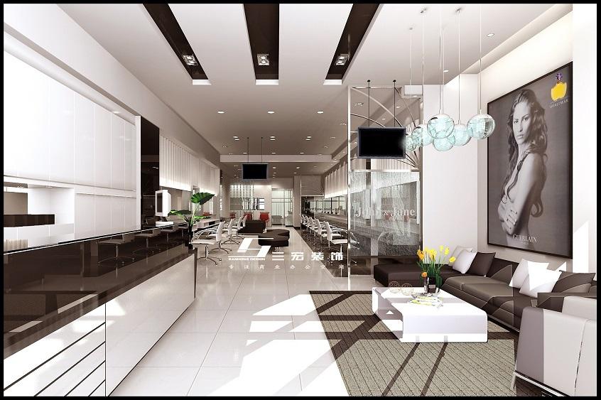 发廊装修设计案例       项目地址:荔湾区       项目面积:110平方米