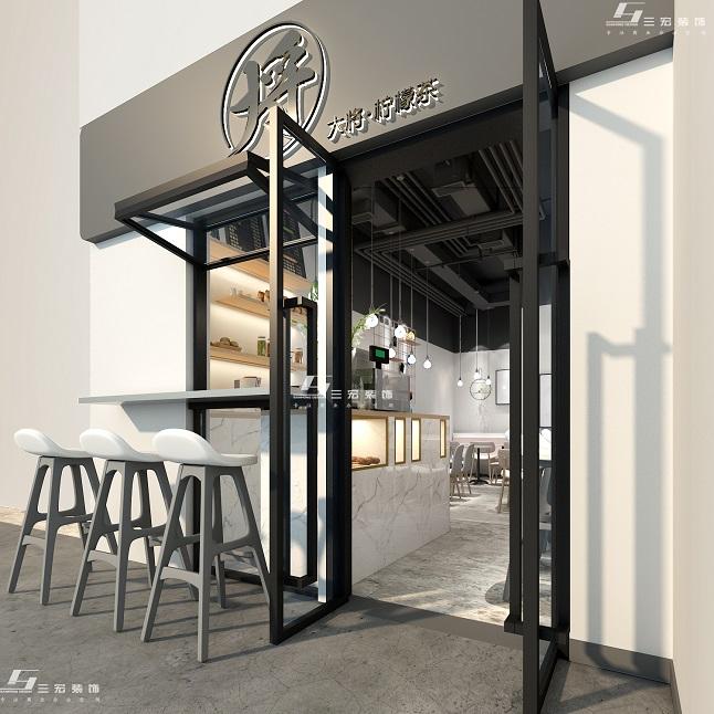 奶茶店设计装修|店铺装修|三宏装饰